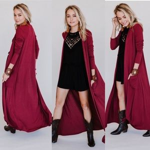 LONGLINE POCKET DUSTER CARDIGAN
